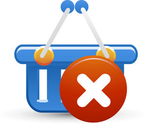 Basket Blue Delete Lite Ecommerce Icon