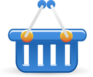 Basket Blue Lite Ecommerce Icon