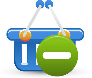Basket Blue Remove Lite Ecommerce Icon