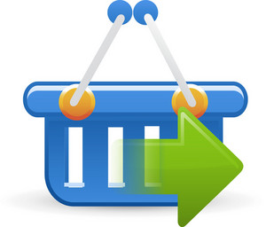 Basket Blue Sending Lite Ecommerce Icon