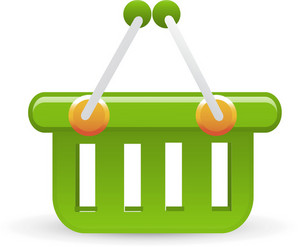 Basket Green Lite Ecommerce Icon