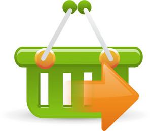 Basket Green Sending Lite Ecommerce Icon