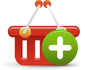 Basket Red Add Lite Ecommerce Icon