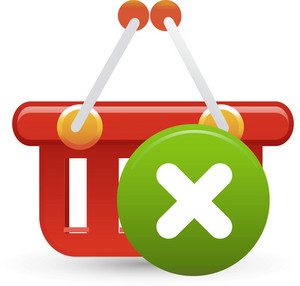 Basket Red Delete Lite Ecommerce Icon