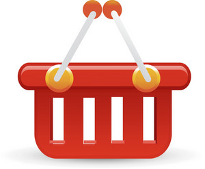 Basket Red Lite Ecommerce Icon