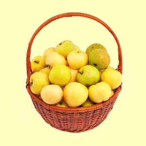 Basket with apples White Filling