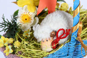 Basket With Easter Decoration