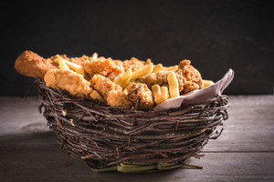 Basket With Fried Food
