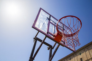 Basketball hoop outdoor with sky