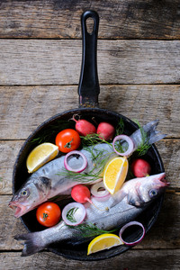 Bass Fish In The Pan