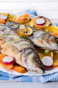 Bass Fish Prepared