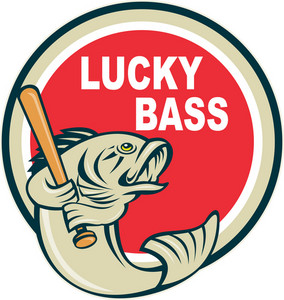 Bass With Baseball Bat Lucky Bass