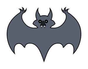 Bat Cartoon - Halloween Vector Illustration