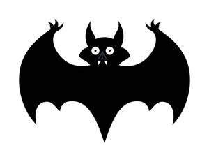 Bat - Halloween Vector Illustration