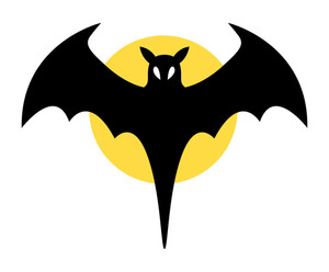 Bat Sign - Halloween Vector Illustration
