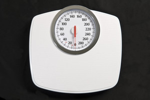 Bathroom Scale Isolated On Black