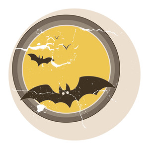 Bats Flying Vector - Vintage