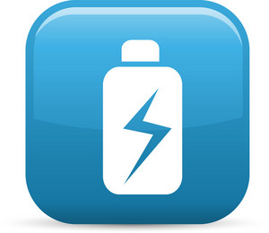 Battery Power Elements Glossy Icon