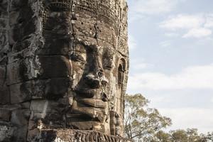 Bayon face Angkor Thom, Siem Reap, Cambodia.