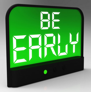 Be Early Alarm Clock Message Shows Deadline And On Time