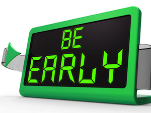 Be Early Clock Message Shows Deadline And On Time