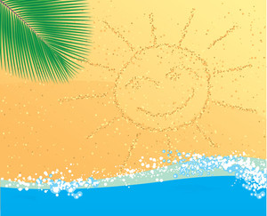 Beach Abstract. Vector.