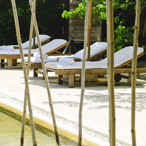 Beach chair at vietname hotel design