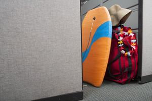 Beach items in office