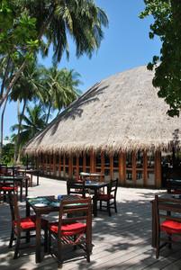 Beach Restaurant View In Maldives