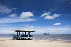 Beach sea with cloud and blue sky