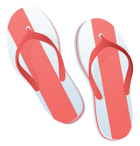 Beach Slippers. Vector.