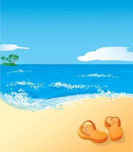 Beach. Vector.