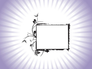 Beautiful Abstract Frame With Floral Elements On Purple Background