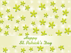 Beautiful Abstract Illustration Shamrock  Background 17 March