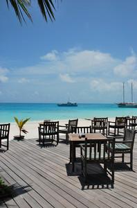 Beautiful Beach Bar View In Maldives