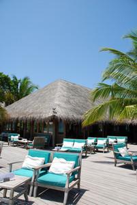Beautiful Beach Restaurant View In Maldives