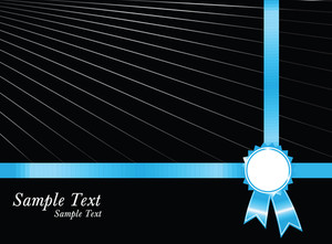 Beautiful Black Background And Award Ribbon