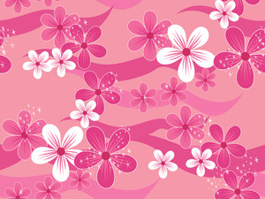 Beautiful Blossoms Pattern Wallpaper