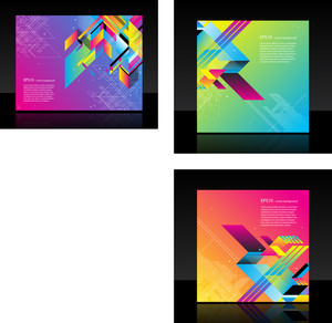 Beautiful Business Template With Lines And Gradients