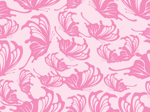 Beautiful Butterfly Pattern Background