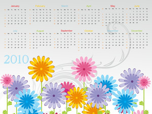 Beautiful Calender For 2010