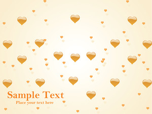 Beautiful Card With Heart Shape