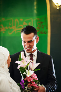 Beautiful couple just married
