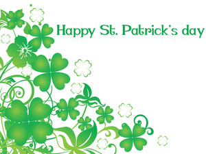 Beautiful Design St. Patrick's Day Card 17 March