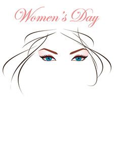 Beautiful Eyes And Hairs For Woman's Day And Any Other Occasion. Vector.