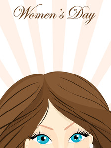 Beautiful Eyes Of A Beautiful Girl. Vector.