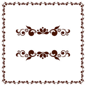 Beautiful Floral Decorated Border Design.