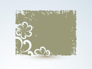 Bella floreale decorati Photo Frame su sfondo astratto.