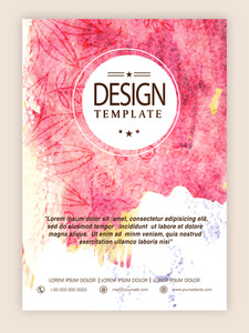 Beautiful floral design and color splash decorated creative flyer