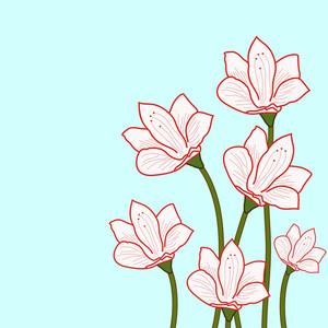Design floral bonito no fundo abstrato.
